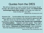 quotes from the dfes