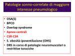 patologie sonno correlate di maggiore interesse pneumologico1