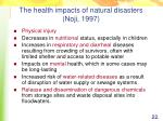 the health impacts of natural disasters noji 1997