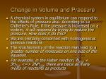 change in volume and pressure
