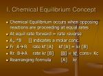 i chemical equilibrium concept