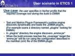user scenario in etics 1
