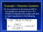 example 1 reaction quotient
