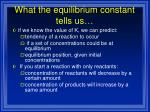 what the equilibrium constant tells us