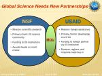 global science needs new partnerships