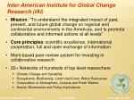 inter american institute for global change research iai