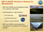 nsf usaid partners in science for development