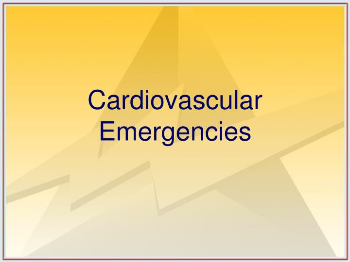 cardiovascular emergencies n.