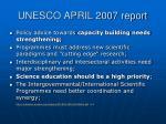 unesco april 2007 report