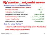 big questions and possible answers2