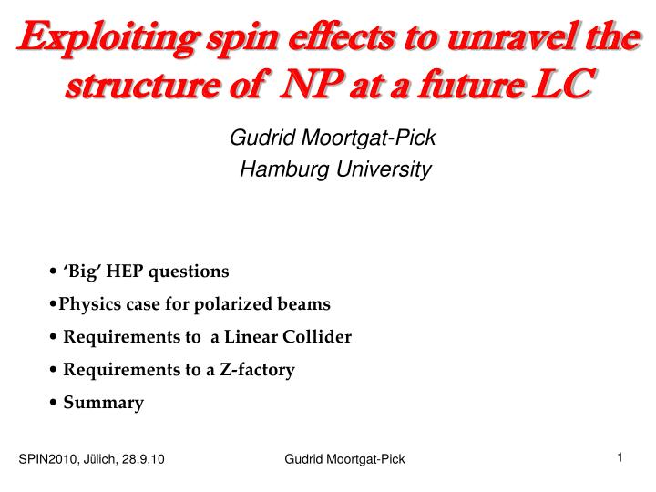 exploiting spin effects to unravel the structure of np at a future lc n.
