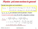 physics pol cross sections in general