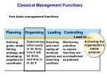 classical management functions
