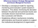 differences between strategic management and classic managerial functions4