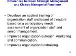 differences between strategic management and classic managerial functions5