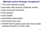 methods used by strategic management1