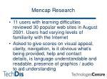 mencap research