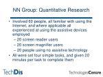 nn group quantitative research