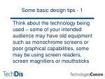 some basic design tips 1