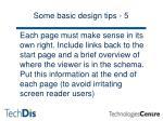 some basic design tips 5