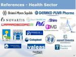 references health sector