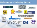 references industry sector