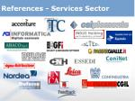 references services sector