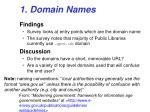 1 domain names