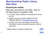 benchmarking public library web sites