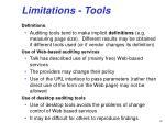 limitations tools