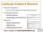 landscape analysis research