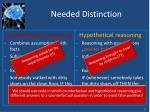 needed distinction