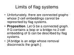 limits of flag systems