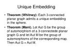unique embedding