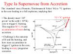 type ia supernovae from accretion