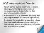 vvvf energy optimizer controller