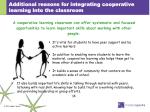 additional reasons for integrating cooperative learning into the classroom