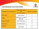 contributing cost estimates1