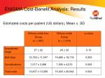 enigma cost benefit analysis results
