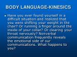 body language kinesics
