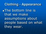 clothing appearance