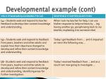 developmental example cont