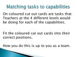 matching tasks to capabilities