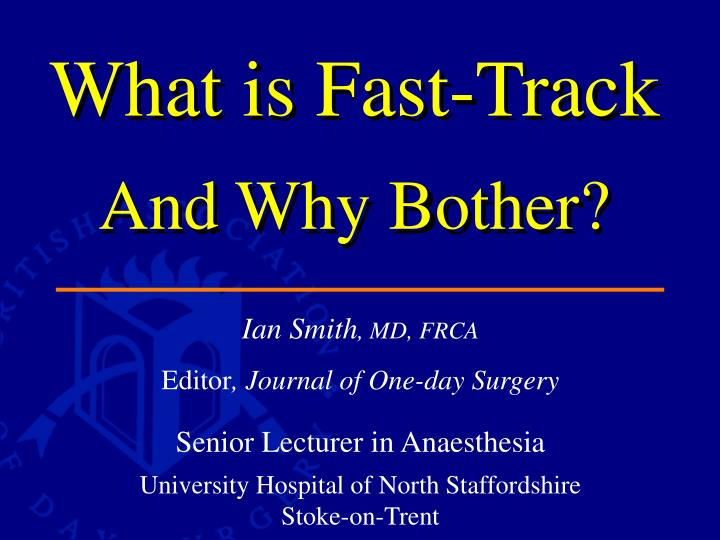 what is fast track and why bother n.