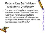 modern day definition webster s dictionary