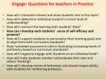 engage questions for teachers in practice