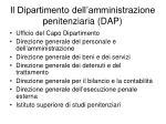 il dipartimento dell amministrazione penitenziaria dap