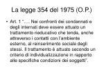 la legge 354 del 1975 o p