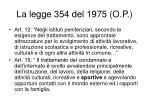 la legge 354 del 1975 o p1