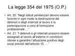 la legge 354 del 1975 o p3